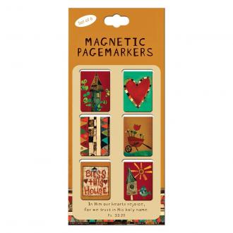 MGB 017 Magnetiske Bokmerker - In Him Our Hearts Rejoice (6 pack)
